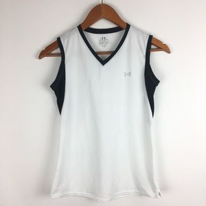 Under Armour Womens Tank Top SMALL White  Shirt